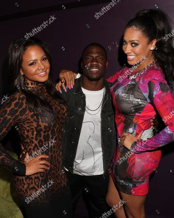L-R) Christina Milian, Kevin Hart and Alani Vazquez Anthony at Kevin Hart's 1st Annual New Year's Eve 3 Day Block Party Celebrity Kick Off on Saturday, December, 29, 2012, at the Conga Room in Los Angeles, California