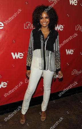Joyful Drake attends the WEtv LA Hair Season 2 Screening party at Kimble Hair Studio on in Los Angeles, California