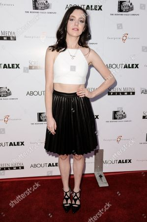 "Claudia Levy arrives at the LA Premiere of ""About Alex"" held at the ArcLight Hollywood, in Los Angeles"