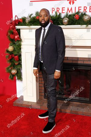 """Director David E. Talbert arrives at the LA Premiere of """"Almost Christmas"""" at the Regency Village Theatre, in Los Angeles"""