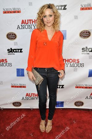 """Stock Image of Annie Tedesco arrives at the LA Premiere of """"Authors Anonymous"""", in Los Angeles"""