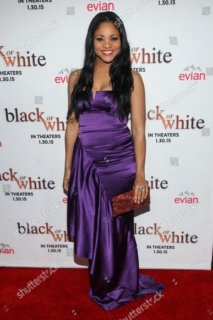 """Erica Hubbard attends the Los Angeles Premiere of """"Black or White"""" held at Regal Cinemas, in Los Angeles"""