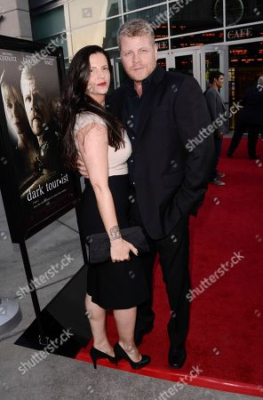 """Stock Photo of Actor Michael Cudlitz, right, and his wife Rachel Cudlitz arrive on the red carpet at the premiere of the feature film """"Dark Tourist"""" at the ArcLight Cinemas on in Los Angeles"""
