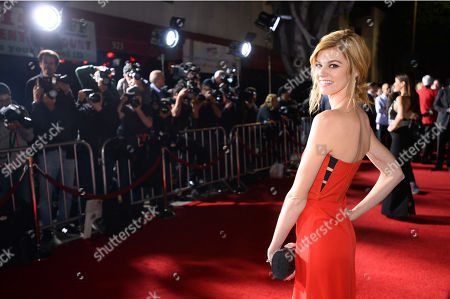 "Rachel Melvin arrives at the premiere of ""Dumb and Dumber To"" at the Regency Village Theatre, in Los Angeles"