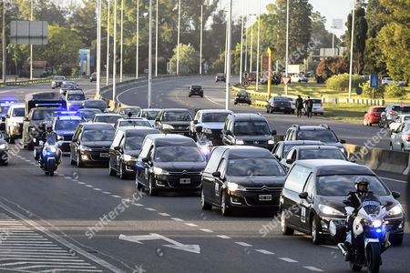 Vehicles carry the bodies of five Argentinian nationals who were killed in a recent terrorist attack in New York City after reaching the capital in Buenos Aires, Argentina, 06 November 2017. The bodies of Ariel Erlij, Diego Mendoza, Diego Enrique Angelini, Alejandro Damian Pagnucco and Hernan Ferruchi, all of whom hailed from the city of Rosario, landed at Buenos Aires' Ministro Pistarini International Airport six days after Tuesday's deadly attack.