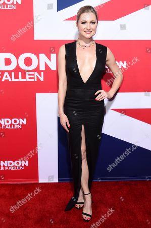 """Katherine Bailess attends the LA Premiere of """"London Has Fallen"""", in Los Angeles"""