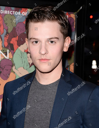 """Travis Tope arrives at the premiere of """"Men, Women & Children"""" at The Directors Guild of America, in Los Angeles"""