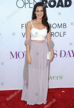 "Stock Photo of Adreana Gonzalez arrives at the Los Angeles premiere of ""Mother's Day"" at the TCL Chinese Theatre on"