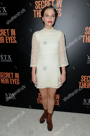 """Actress Zoe Graham attends the LA Premiere of """"Secret In Their Eyes"""" held at the Hammer Museum, in Los Angeles"""