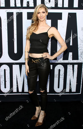 "Kelli Jones arrives at the Los Angeles premiere of ""Straight Outta Compton"" at the Microsoft Theater on"