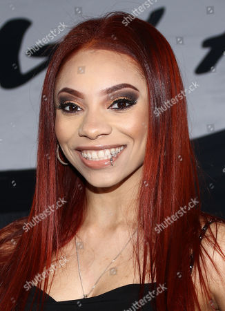 """Erin Bria Wright, daughter of rapper Eazy-E, arrives at the Los Angeles premiere of """"Straight Outta Compton"""" at the Microsoft Theater on"""