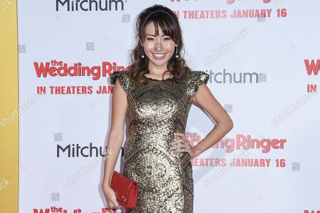Stock Photo of Ami Haruna arrives at the LA Premiere Of The Wedding Ringer at the TLC Chinese Theatre, in Los Angeles, CA