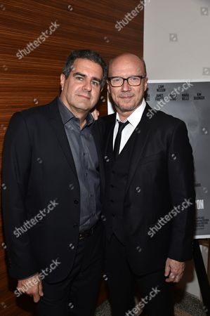 """Producer Michael Nozik and Paul Haggis arrive at Los Angeles Premiere of """"Third Person"""", in Los Angeles"""