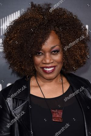 "Regina Taylor arrives at the LA Premiere of ""Underground"" held at the Theatre at Ace Hotel, in Los Angeles"