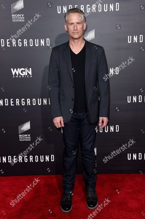 "Stock Picture of Reed Diamond arrives at the LA Premiere of ""Underground"" held at the Theatre at Ace Hotel, in Los Angeles"