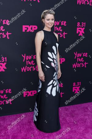 """Stock Photo of Collette Wolfe arrives at the LA Premiere of """"You're the Worst"""" Season Three at the Neuehouse Hollywood, in Los Angeles"""