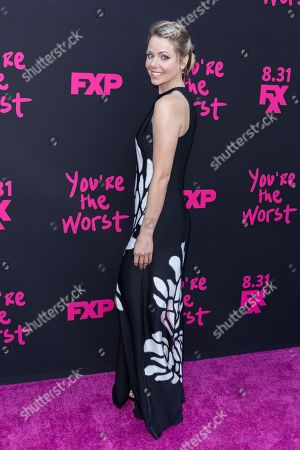 """Stock Picture of Collette Wolfe arrives at the LA Premiere of """"You're the Worst"""" Season Three at the Neuehouse Hollywood, in Los Angeles"""