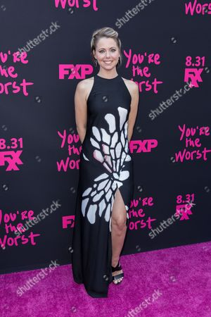 """Collette Wolfe arrives at the LA Premiere of """"You're the Worst"""" Season Three at the Neuehouse Hollywood, in Los Angeles"""