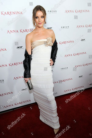 "Stock Picture of Guro Schia, a cast member in ""Anna Karenina,"" poses at the premiere of the film ""Anna Karenina"" at The Arclight Hollywood, in Los Angeles"