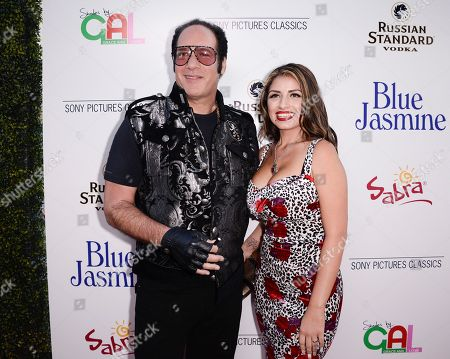 "Actor and comedian Andrew Dice Clay, left, and his wife Valerie Vasquez arrive at the LA Premiere of ""Blue Jasmine"" at the Academy of Motion Pictures Arts and Sciences on in Los Angeles"