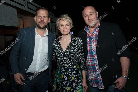 """Stock Picture of President, Original Programming, FX Networks & FX Productions Nick Grad, left, Stephnie Weir and Will Sasso attend the After Party for the LA Premiere of FX's """"The Comedians"""", in Santa Monica, Calif"""