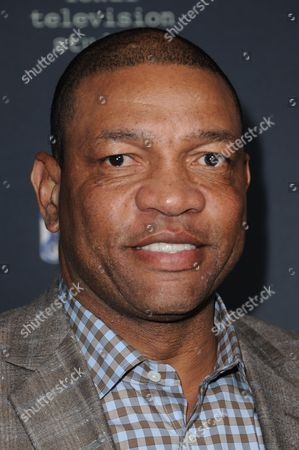 "Doc Rivers arrives at the LA Premiere of FX's ""The Comedians"", in Santa Monica, Calif"