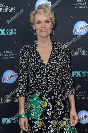 """Stephnie Weir arrives at the LA Premiere of FX's """"The Comedians"""", in Santa Monica, Calif"""