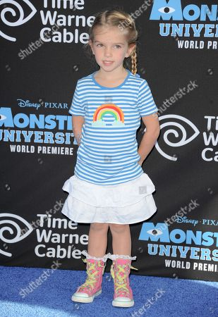 """Mia Talerico arrives at the LA premiere of """"Monsters University"""" at the El Capitan Theatre on in Los Angeles"""