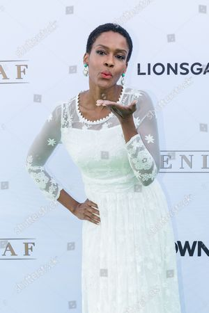"""Stock Image of Kim Hawthorne arrives at the season one premiere of """"Greenleaf"""" at The Lot, in West Hollywood, Calif"""