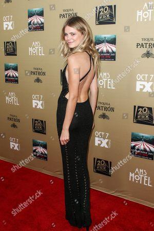 "Kamilla Alnes attends the LA Premiere Screening of ""American Horror Story: Hotel"" held at Regal Cinemas L.A. Live, in Los Angeles"