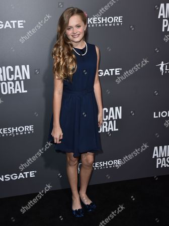 """Hannah Nordberg arrives at a special screening of """"American Pastoral"""" at the Samuel Goldwyn Theater, in Beverly Hills, Calif"""