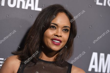 """Stock Image of Sharon Leal arrives at a special screening of """"American Pastoral"""" at the Samuel Goldwyn Theater, in Beverly Hills, Calif"""