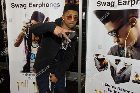 "Hip hop artist, ""Lil Twist"" seen at International CES 2013, on in Las Vegas, NV for the debut of his new headphone collection ""Twist Swag Headphones by Nikura USA"