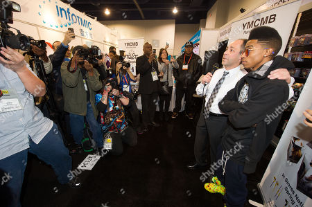 "Stock Image of Hip hop artist, ""Lil Twist"" seen at International CES 2013, on in Las Vegas, NV for the debut of his new headphone collection ""Twist Swag Headphones by Nikura USA"