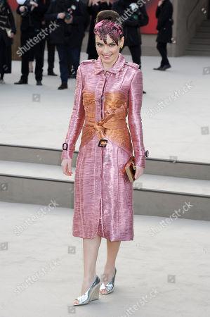 Editorial image of London Fashion Week Burberry Prorsum Arrivals - 18 Feb 2013