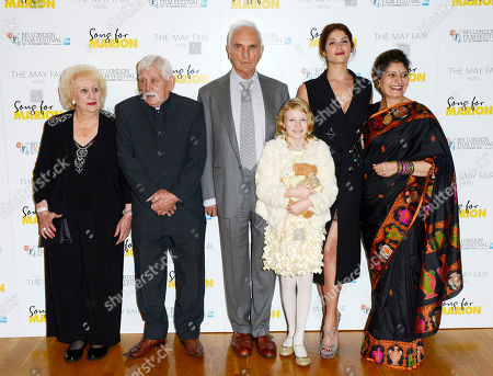 Arthur Nightingale, Terence Stamp, Orla Hill, Gemma Arterton and guests poses at London Film Festival The Mayfair Hotel Gala - Song for Marion at Odeon West End on in London
