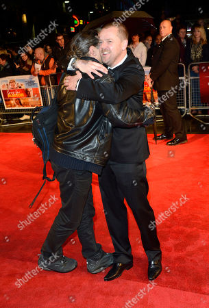 Paul Andrew Williams,Andy Serkis poses at London Film Festival The Mayfair Hotel Gala - Song for Marion at Odeon West End on in London