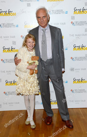 Terence Stamp, Orla Hill poses at London Film Festival The Mayfair Hotel Gala - Song for Marion at Odeon West End on in London