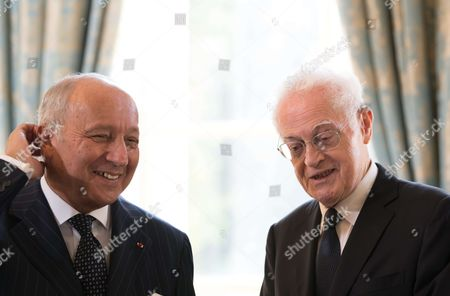 Laurent Fabius and Former Prime Minister Lionel Jospin
