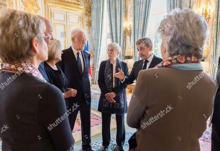 Dominique Lottin, Laurent Fabius, Nicole Maestracci, Former Prime Minister Lionel Jospin, Corinne Luquiens and Former French President Nicolas Sarkozy