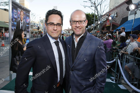 Rajiv Joseph and Scott Rothman seen at Los Angeles Premiere of Summit Entertainment's 'Draft Day,' on in Westwood, CA