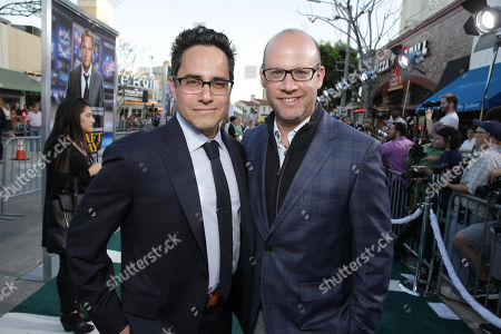 Stock Photo of Rajiv Joseph and Scott Rothman seen at Los Angeles Premiere of Summit Entertainment's 'Draft Day,' on in Westwood, CA