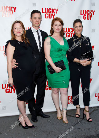 L-R) Samantha Bryant, actor Colin Hanks, Elizabeth Hanks, and actress Rita Wilson arrives at the Lucky Guy Opening Night, on monday, April, 01, 2013 in New York, NY
