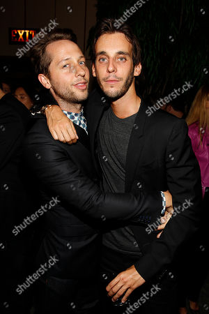 Derek Blasberg and Vladimir Restoin-Roitfeld attend the after party for the New York premiere of Mademoiselle C presented by Cohen Media and sponsored by Absolute Elyx, LoveGold, and The Hollywood Reporter at the Four Season Restaurant on in New York