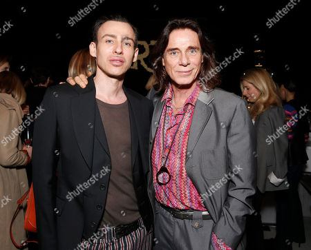 Alex Roche and George Blodwell salute legend of art and fashion Mario Testino at his Peruvian Natives' Exhibition Presented by Porton at Prism on in Los Angeles