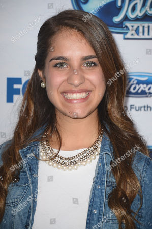 "Stock Photo of Emily Piriz attends FOX's ""American Idol XIII"" finalists party at Fig & Olive Melrose Place on in West Hollywood, Calif"