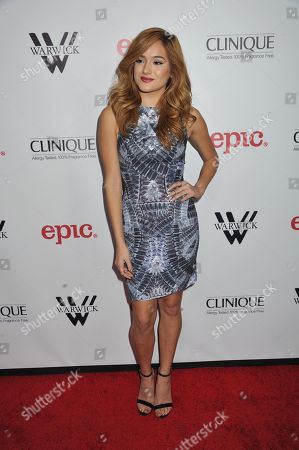 Chachi Gonzales arrives at Meghan Trainor's Debut Album Release Party at The Warwick, in Los Angeles