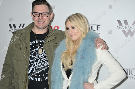 Kevin Kadish, at left, and Meghan Trainor arrive at Meghan Trainor's Debut Album Release Party at The Warwick, in Los Angeles
