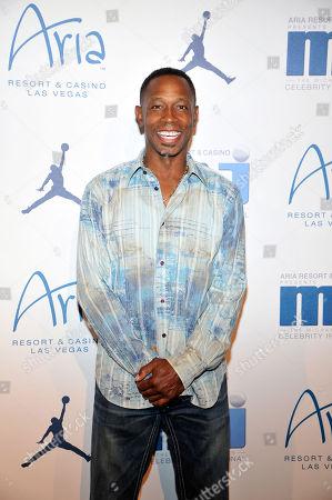 Former Major League Baseball player Kenny Lofton arrives at the Michael Jordan Celebrity Invitational opening night dinner, Wednesday, April, 3, 2013 in Las Vegas