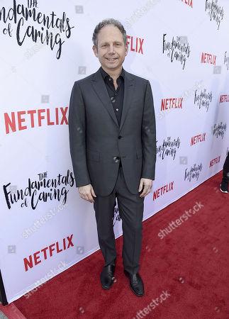 "Director Rob Burnett seen at Netflix original film special screening of ""The Fundamentals of Caring"" at Arclight Hollywood, in Los Angeles, Ca"
